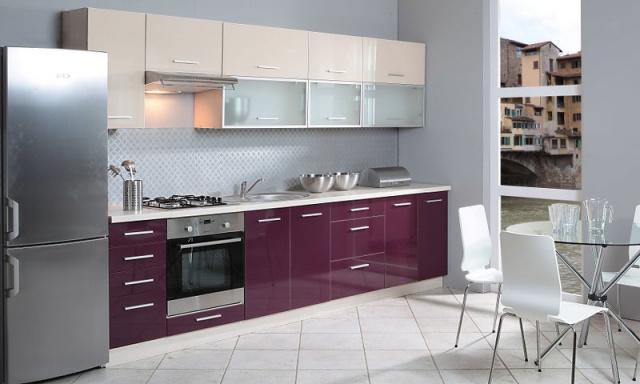Luxusná kuchynská linka Platinum C, vysoký lesk!