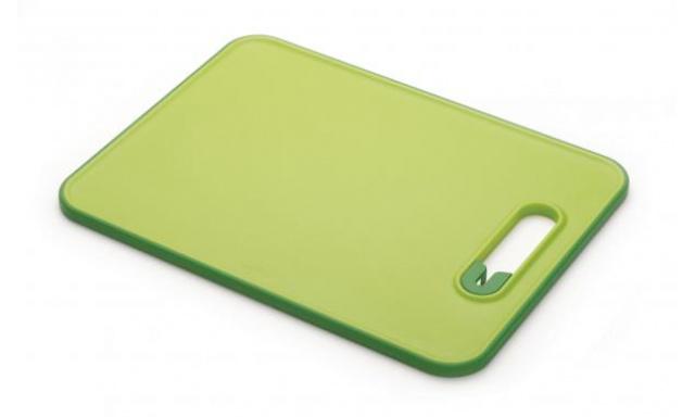 Doštička s brúskou JOSEPH JOSEPH Slice & Sharpen ™, malé / zelené