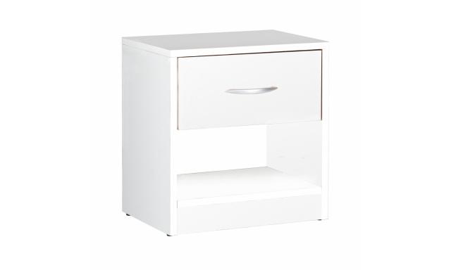 Moderný nočný stolík Miami, biely