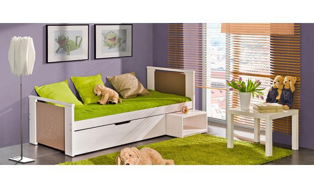 Detská posteľ Kubik s úložným priestorom z masívu