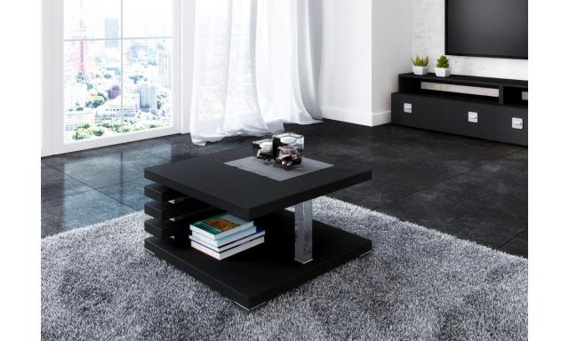 Moderný konferenčný stôl Token, čierny lesk