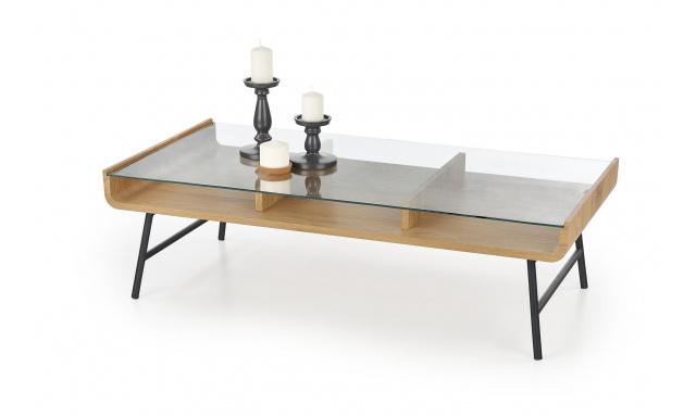 Kvalitný konferenčný stôl Amro, dub zlatý / čierna
