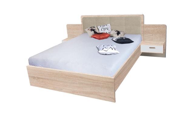 Manželská posteľ Efka 160x200cm, sonoma