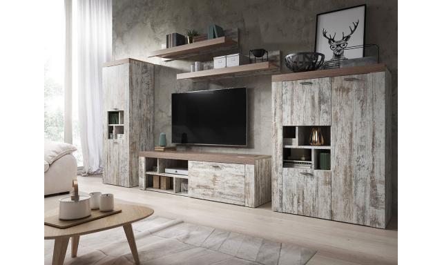 Dizajnová obývacia stena Amelie, canyon / sonoma