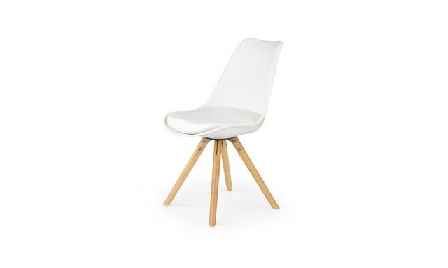 Jedálenská stolička H201, biela