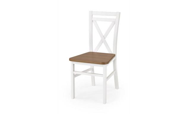 Jedálenská stolička Derek, biela / jelša