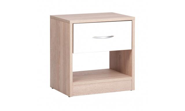 Moderný nočný stolík Miami, sonoma / biela