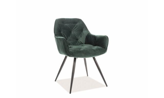 Dizajnová jedálenská stolička Chiron, zelená