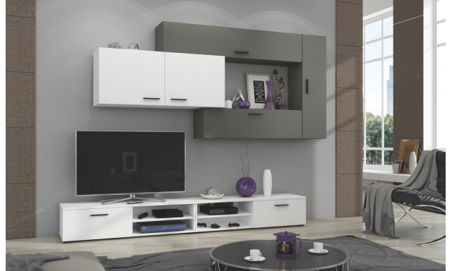Moderná obývacia stena Java, biela