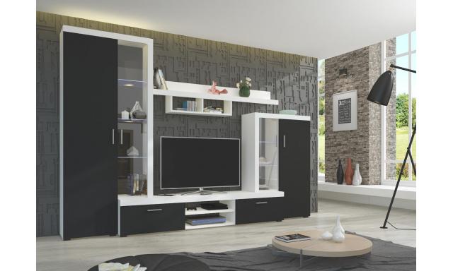 Moderná obývacia stena Asolo, biela / čierna