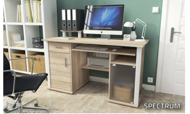 PC stôl Spectrum, sonoma