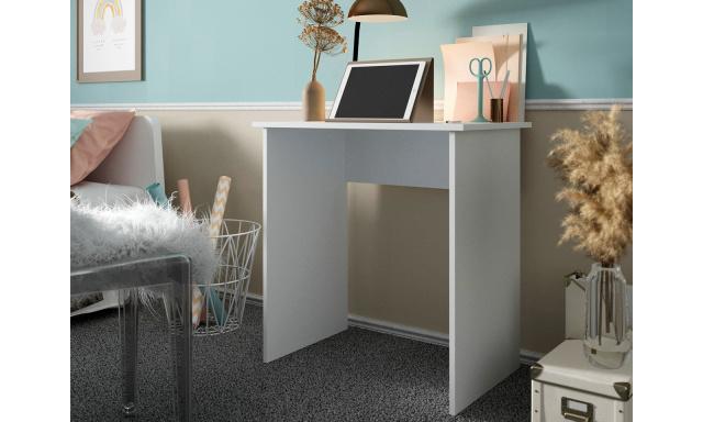 Lacný PC stôl Janica, biely