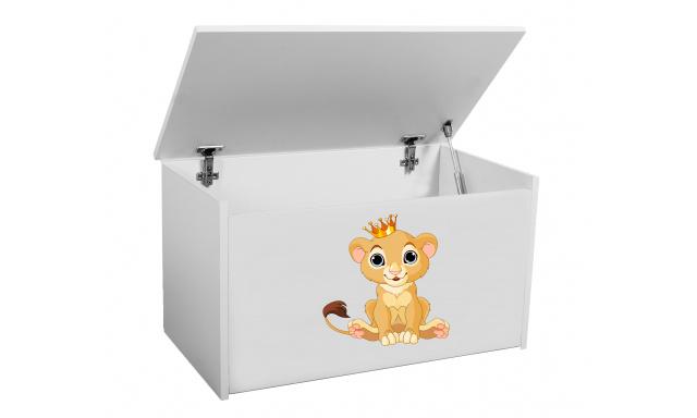 Box na hračky Denia, biely + lev