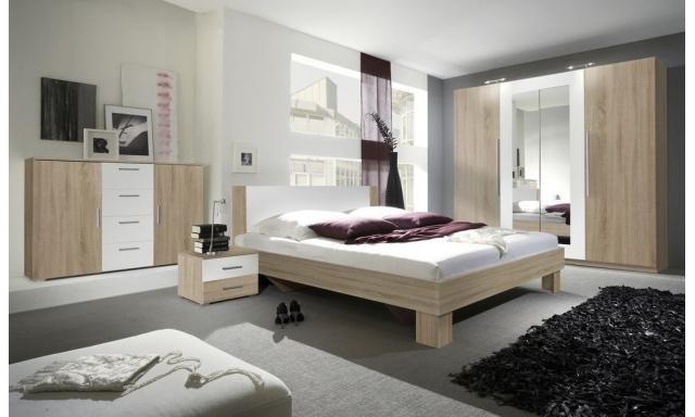 Spálňa Veronika s postelí 180cm, sonoma/bílá