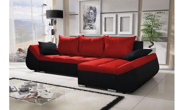 Moderná sedacia súprava Corfu, čierna / červená
