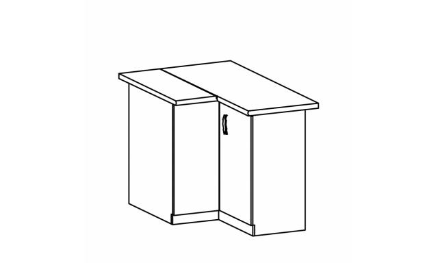 REVAL dolná skrinka 90cm - rohová