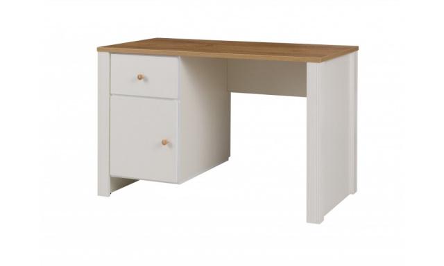 PC stôl Bremen 6, dub zlatý / krém