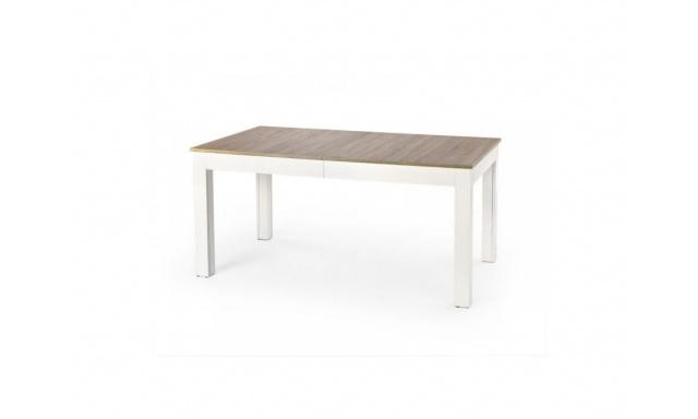 Rozkládací jídelní stůl H385 sonoma/bílý