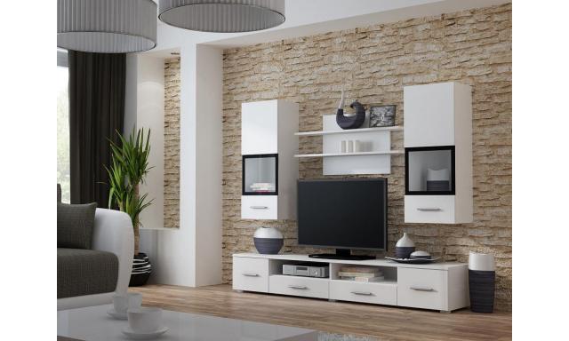 Moderná biela obývacia stena Siena, biela