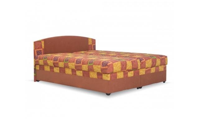 Lacná posteľ Kappa, 160x200cm, oranžová