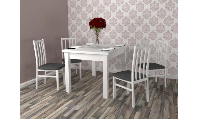 Moderný jedálenský set Barole, biely