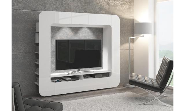 Moderná obývacia stena Media, biela