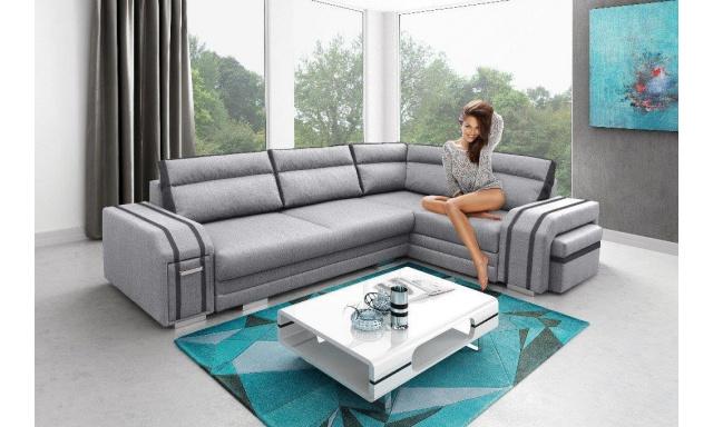 Luxusné rohová sedačka Aventador, šedá
