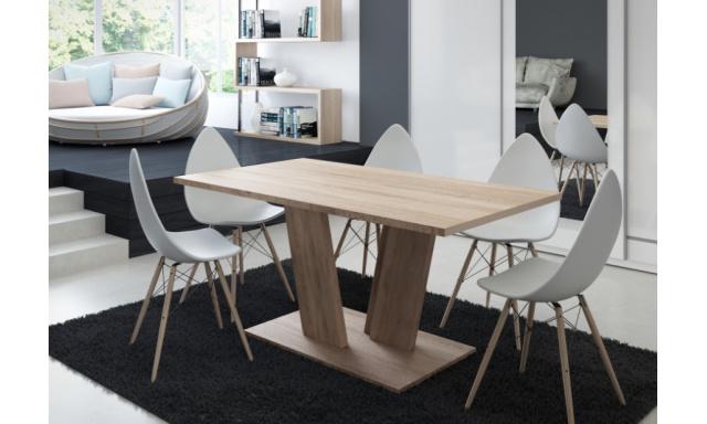 Moderný jedálenský stôl Voice, sonoma