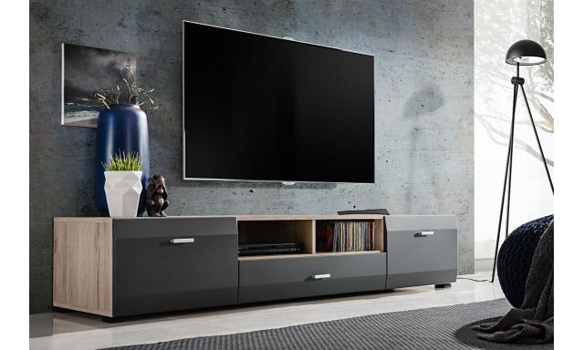 TV stolík Clip, san remo / grafit