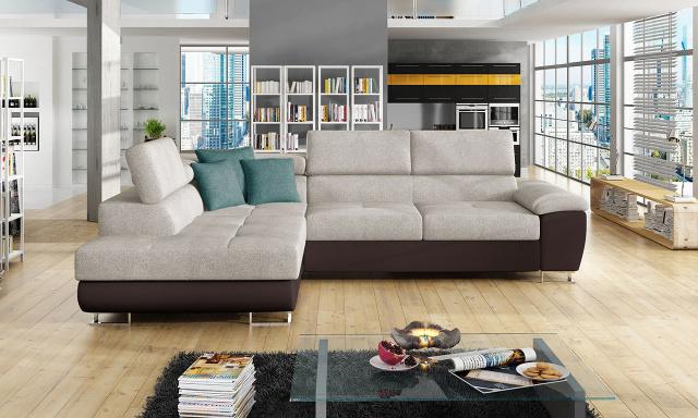 Luxusná sedacia súprava Cinnamon, hnedá / béžová