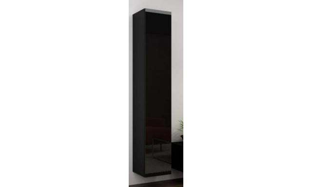 Závěsná skřínka Igore 180 plná, černá/černý lesk
