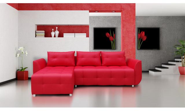 Moderná sedacia súprava Sierra, červená