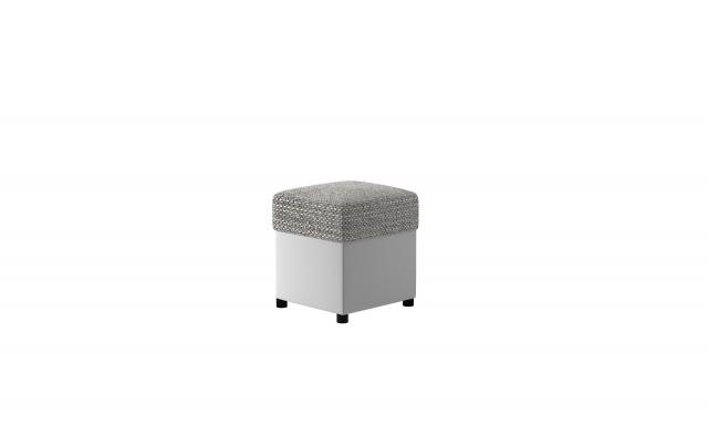 Taburet TR1 35x35cm, biela / sivá