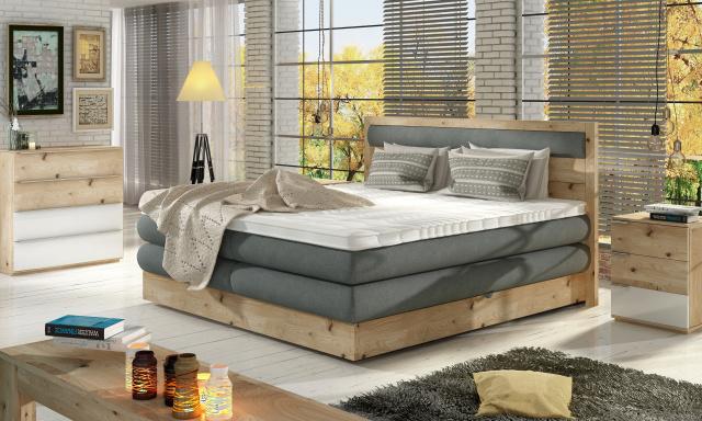 Luxusná box spring posteľ Delta 140x200