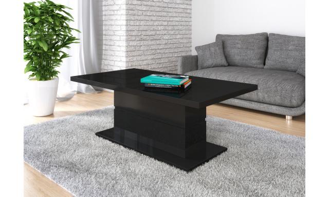 Moderný konferenčný stôl Marika, čierny lesk