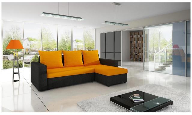 Moderná sedacia súprava Tron, Oranžová