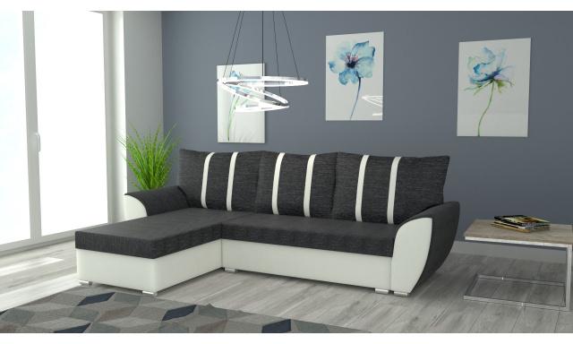 Moderná sedacia súprava Igloo, biela / sivá
