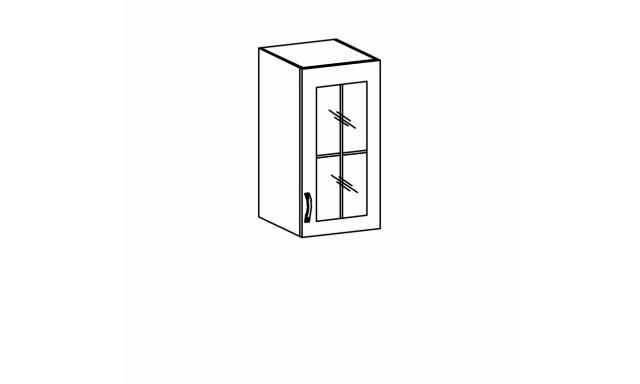 REVAL horná skrinka 40cm - vitrína, pravá