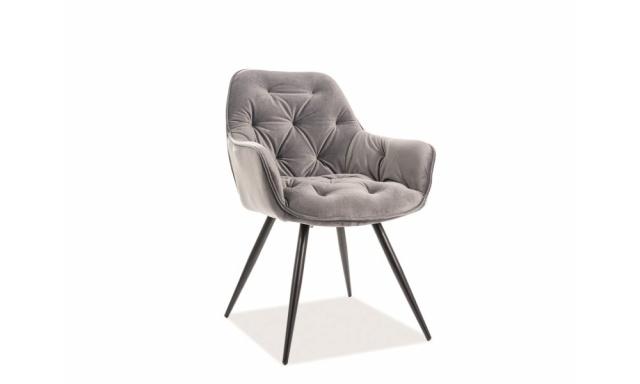 Dizajnová jedálenská stolička Chiron, šedá