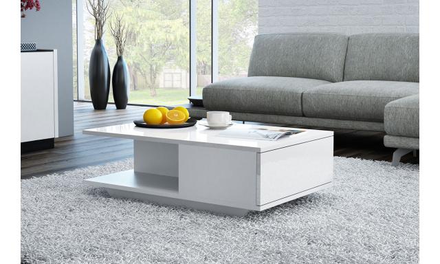 Konferenčný stôl Dana, biely lesk