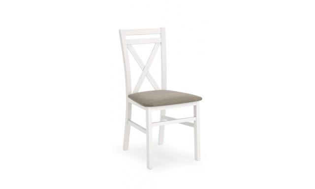 Jedálenská stolička Derek s poduškou, biela