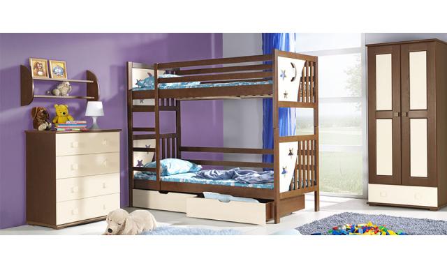 Detská posteľ Janek - poschodová, masív