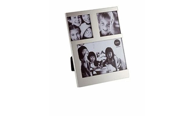 Stolný fotorámček Balve Dijon, 1x 10x10cm / 2x 7,7x7,7cm, strieborný