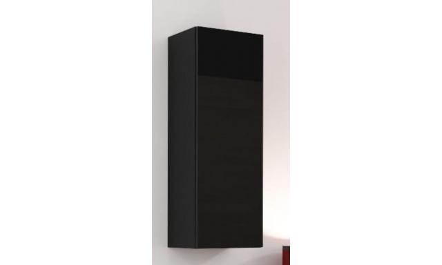 Závěsná skřínka Igore 90 plná, černá/černý lesk