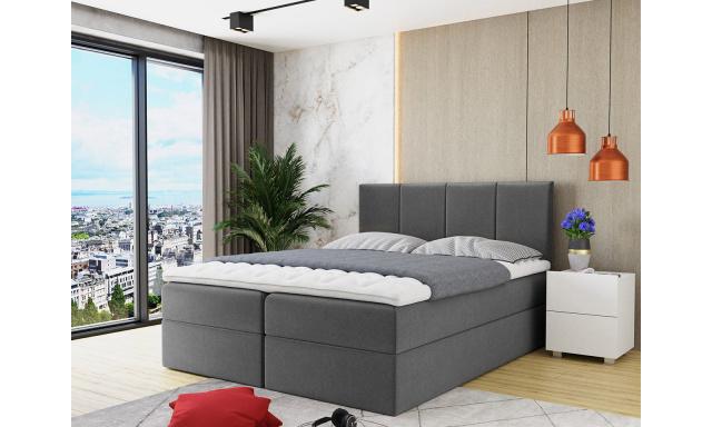 Kontinentálna posteľ Rijeka 140x200, sivá