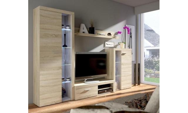 Moderná obývacia stena Rask, sonoma