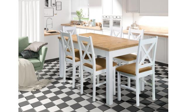 Moderný jedálenský set Oregon (rozkladací stôl + 6x stoličky)