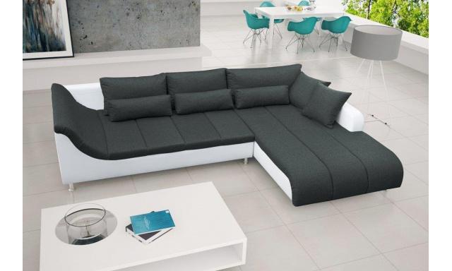 Dizajnová rohová sedačka Axel, čierna