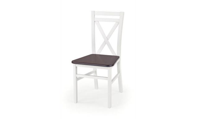Jedálenská stolička Derek, orech / biela