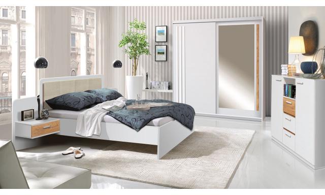 Moderná spálňa Efka, borovica andersen